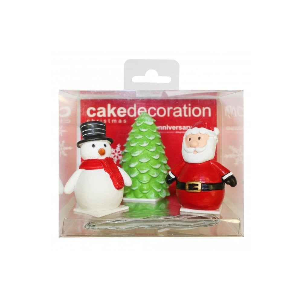 Christmas Cake Toppers.Cartoon Christmas Characters Cake Toppers Set