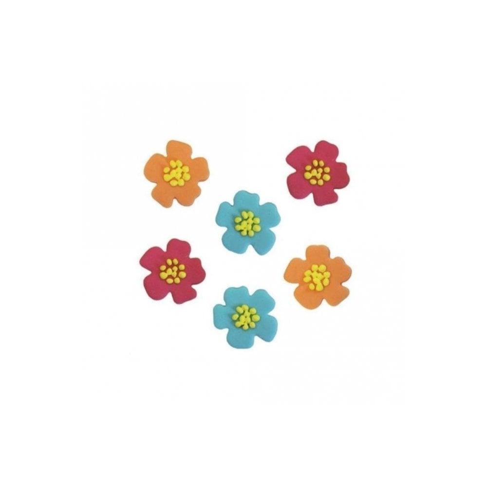 Anniversary house hibiscus flower sugar toppers x 6 edibles from hibiscus flower sugar toppers x 6 izmirmasajfo