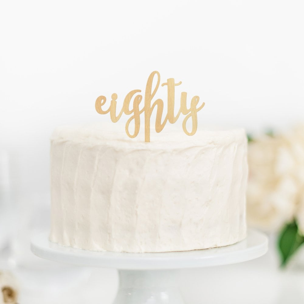 Number Wooden Topper The Cake Decorating Co Choose A Number