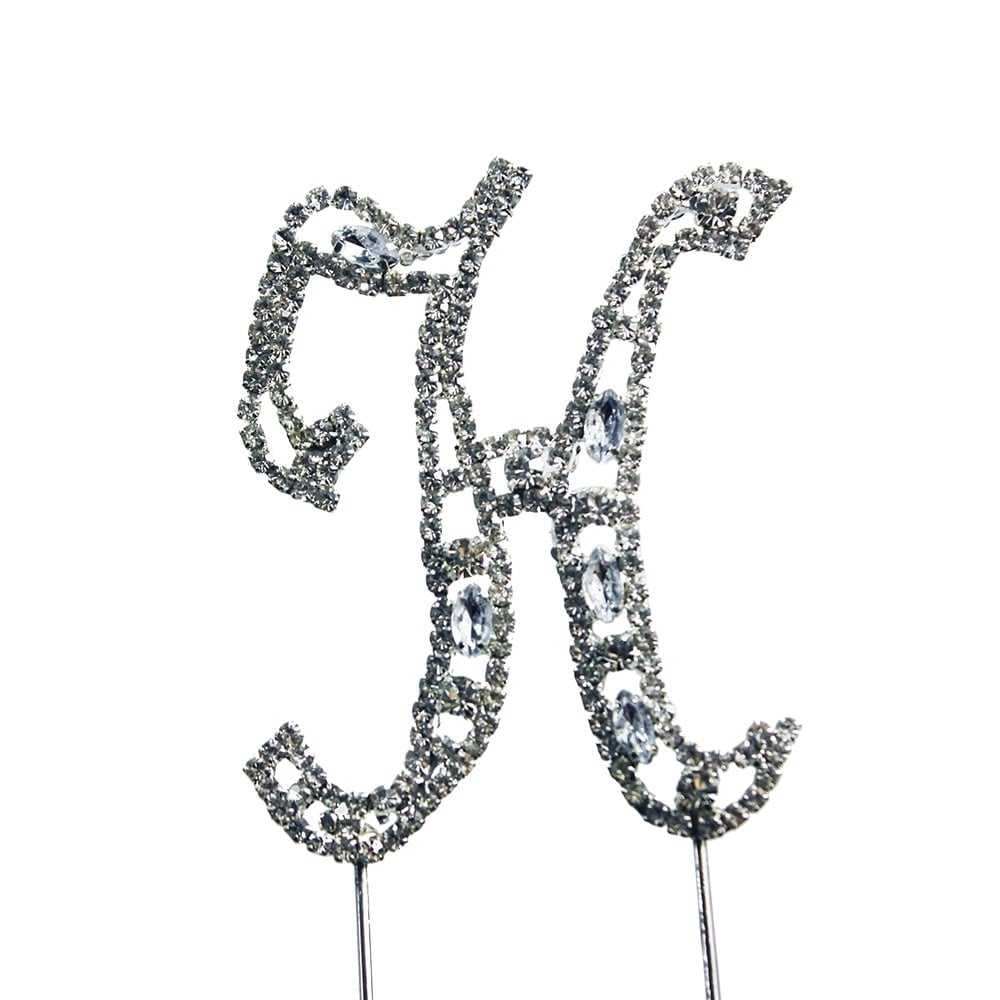 Cake Craft Group Letter H Diamante Crystal Embellishment