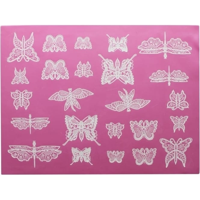 Cake Lace Beautiful Butterflies - 3D Large Lace Mat