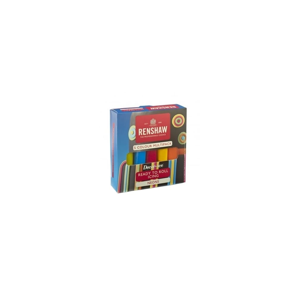 renshaw neon colour - multipack of 5 x 100g renshaw ready to roll