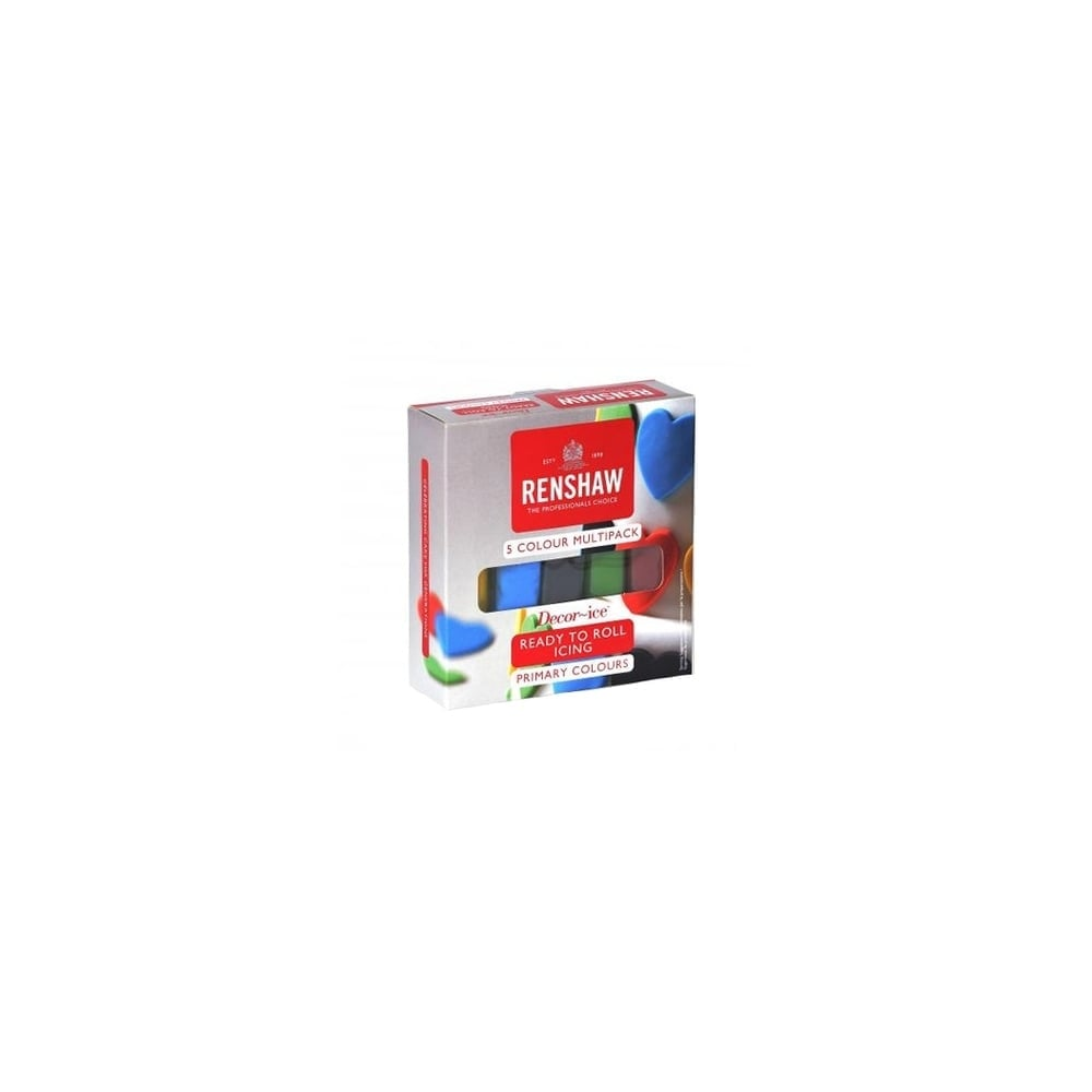 renshaw primary colours - multipack of 5 x 100g renshaw ready to