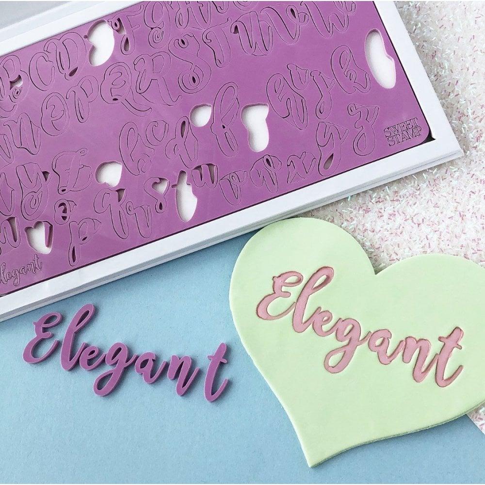 Sweet Stamp Elegant Letters Embossing Set