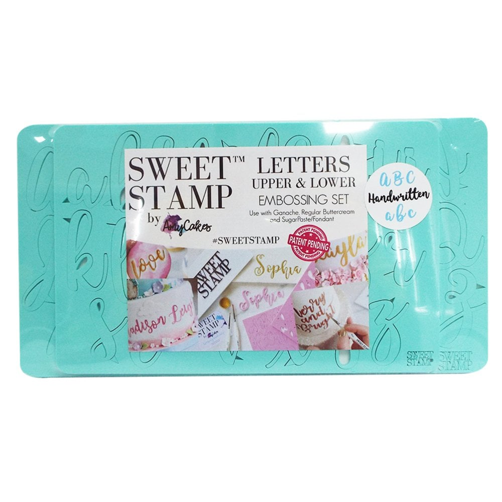 Sweet Stamp Handwritten Letters Embossing Set Of 2