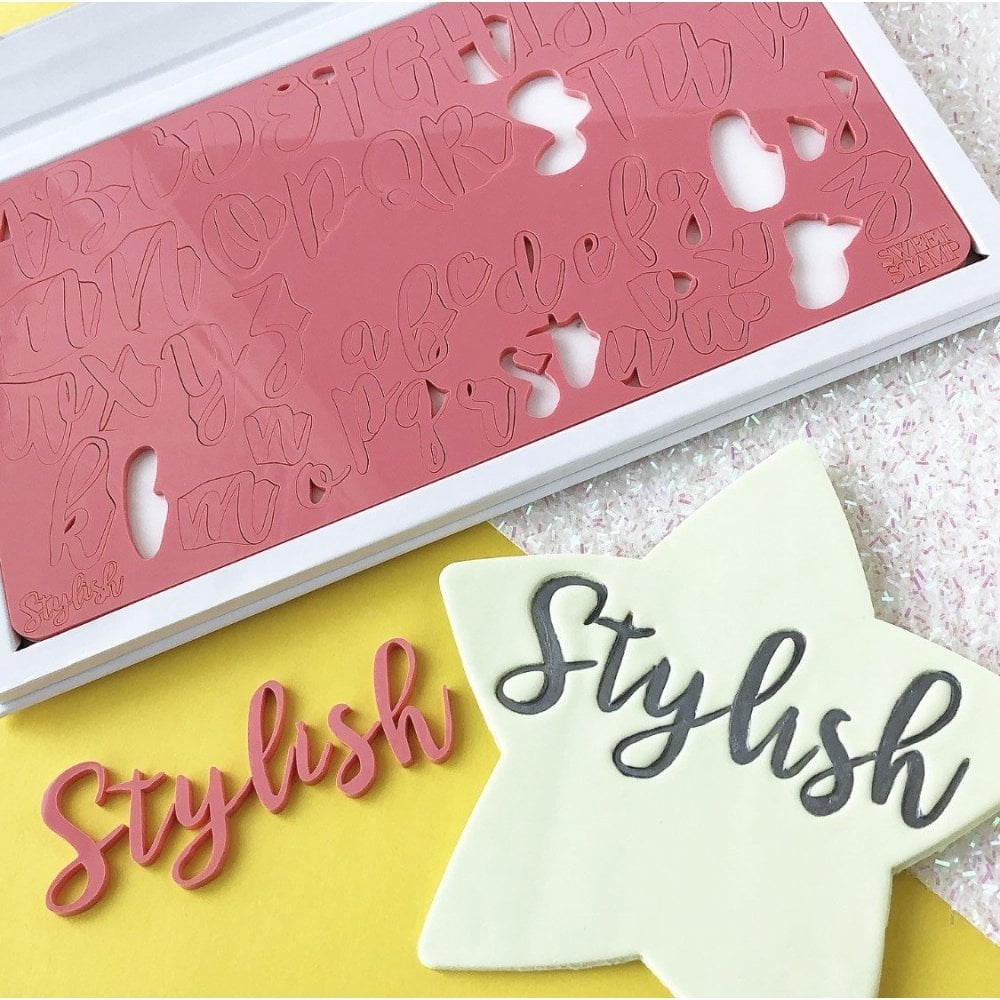 Sweet Stamp Stylish Letters Embossing Set