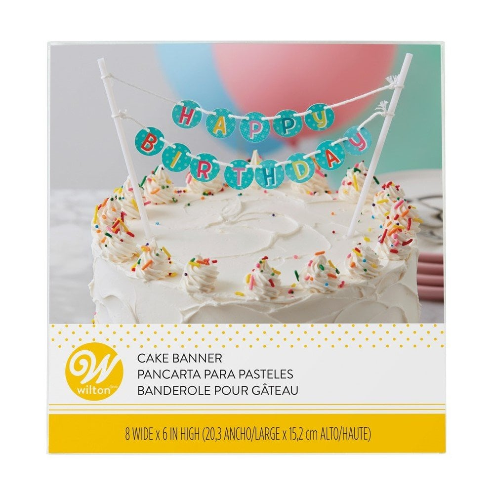 Fine Happy Birthday Cake Banner Happy Birthday Cake Toppers Birthday Cards Printable Nowaargucafe Filternl