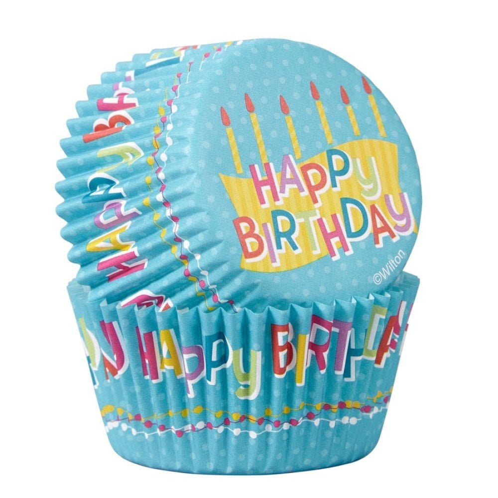 Fantastic Happy Birthday Cupcake Cases Birthday Baking Cases Party Cakes Funny Birthday Cards Online Elaedamsfinfo